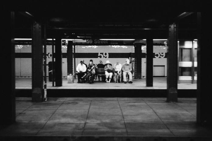 Taken with a Leica M6 on Kodak Tri-X 400 at the 59 Street Columbus Circle subway station in New York City, United States.