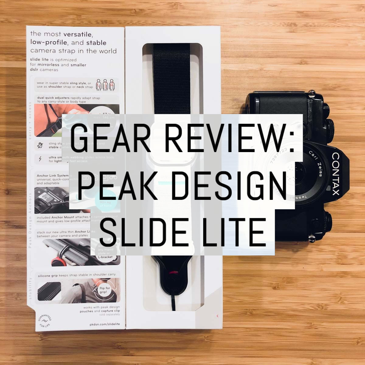 Gear review: the Peak Design Slide Lite (v3)