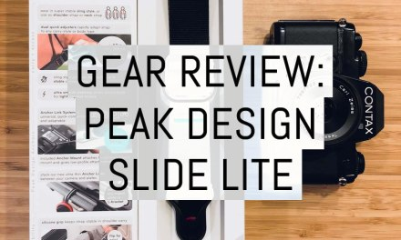 Gear review: the Peak Design Slide Lite (v2)