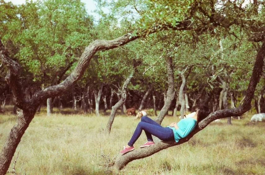 Alexis in Dripping Springs - Nikon FA, Nikon 50mm f/1.4, Cinestill 800T