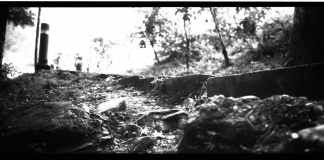 Steppps - Shot on Shanghai GP3 100. Black and white negative film in 120 format shot as 6x12.