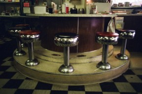 An old diner counter in the St John's area of North Portland. Lomography Color Negative 400.