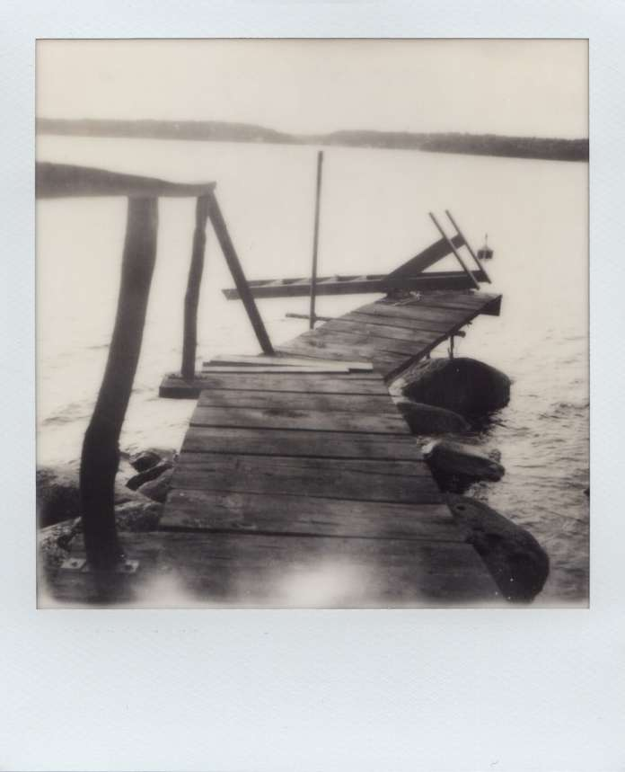 Polaroid SX-70 Land camera, model Alpha 1, The Impossible Project B&W film (on the Betsö island in the Swedish Archipelago).