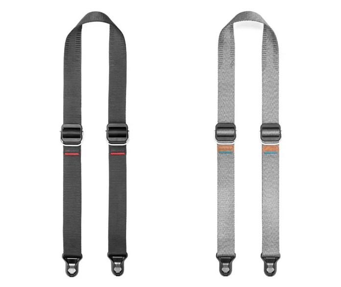 Peak Design - Slide Lite - Black (SLL-BK-3) and Ash (SLL-AS-3) side-by-side