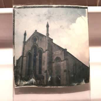 Test 3: Emulsion lift on glass plate