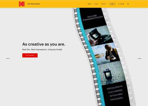 Kodak Film Strip Creator - Homepage