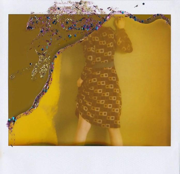 Torn Pages - Polaroid Spectra, Glitter on expired Polaroid Spectra film