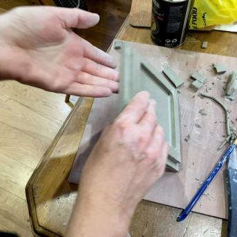 The Ceramic Pinhole Project - Lid lip being put in place