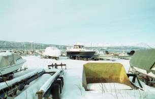 Harbour in Narvik Norway