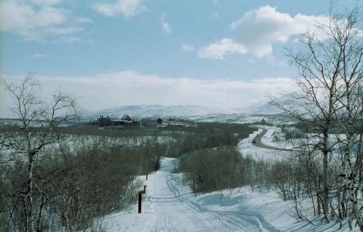 Looking to Abisko village