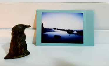 Blue hour, Fuji Instax Mini Color, Lomography Automat Magellan.