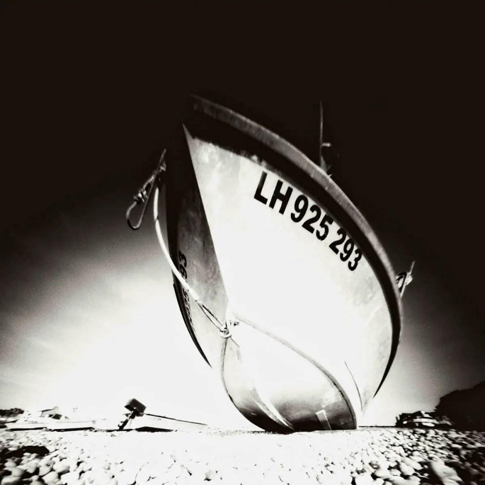 Boat at Etretat, ILFORD Pan F PLUS, Reality so Subtle 6x6 Pinhole camera.