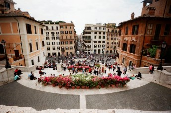Spanish Steps, Rome: The weather again was pretty bleak, and yet... the Waiwai gave me the best shot of the day.