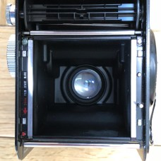 Yashica Mat-124 - Rear (take-up spool top, lens bottom)