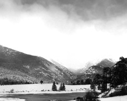 While in Rocky Mountain National Park there are several locations for visitors to pull over. One of the keys to photographing from one of these locations is to look for the shot no one else is taking. While everyone else was shooting straight ahead, I was the only one looking this direction. Of course, everyone was looking at me like I didn't know what I was doing… Again: not more than 20 feet away from my vehicle.