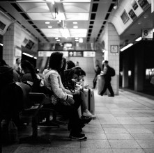 Waiting time - Shot on Kodak Tri-X 400 at EI 800. Black and white negative film in 120 format shot as 6x6.