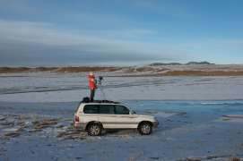 Waiting for the light at Y4: 300km from the river source. From Mother River series