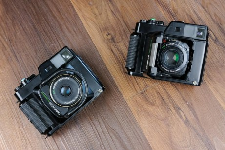 Fuji GS645S (left) & GS645 (right) - Head on