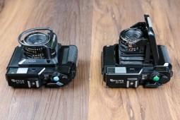 Fuji GS645S (left) & GS645 (right) - Top down