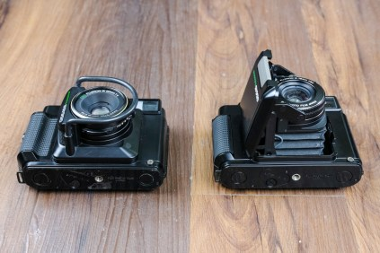 Fuji GS645S (left) & GS645 (right) - Bottom's up