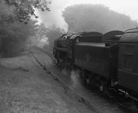 Steam locomotive departing Weybourne, North Norfolk Railway - ILFORD Delta 400 Professional, ILFORD ID-11, 1+1, 14mins, 68°F