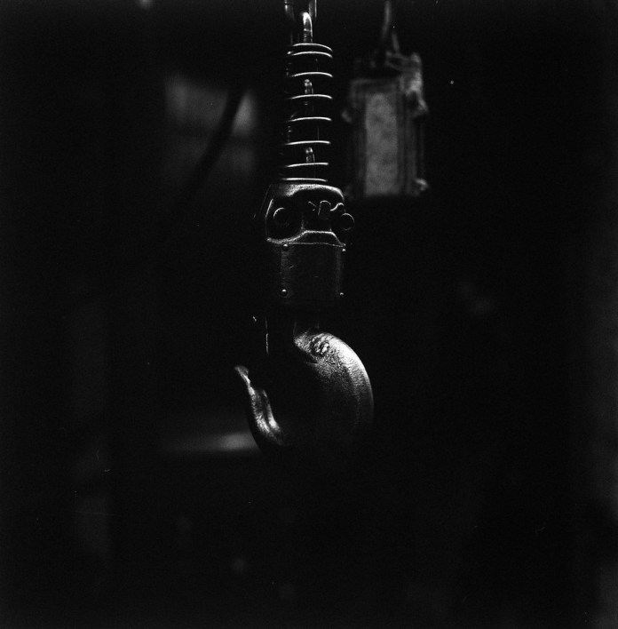 Claw - ILFORD HP5 PLUS shot at EI 12800. Black and white negative film in 120 format shot as 6x6. Push processed 5 stops.
