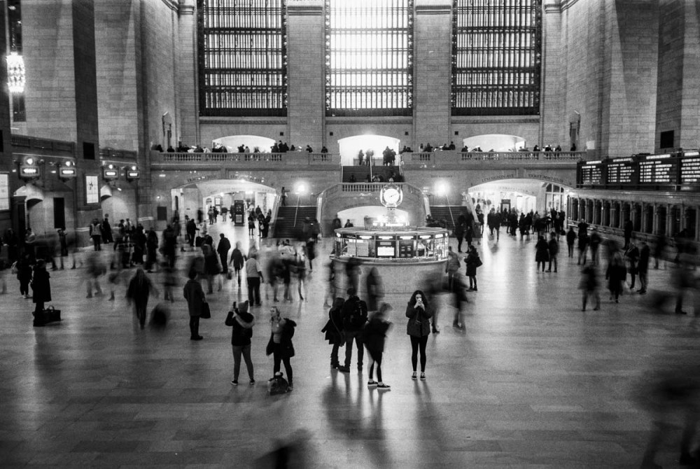 ILFORD FP4 PLUS / 35mm, Olympus XA3. Grand Central Station, New York, USA. February 2018.