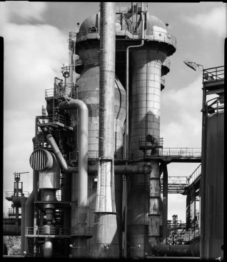 Smelter at former steelworks, Rodenstock Apo-Ronar 30mm, lens shifted, Ilford HP5+ in HC-110 B