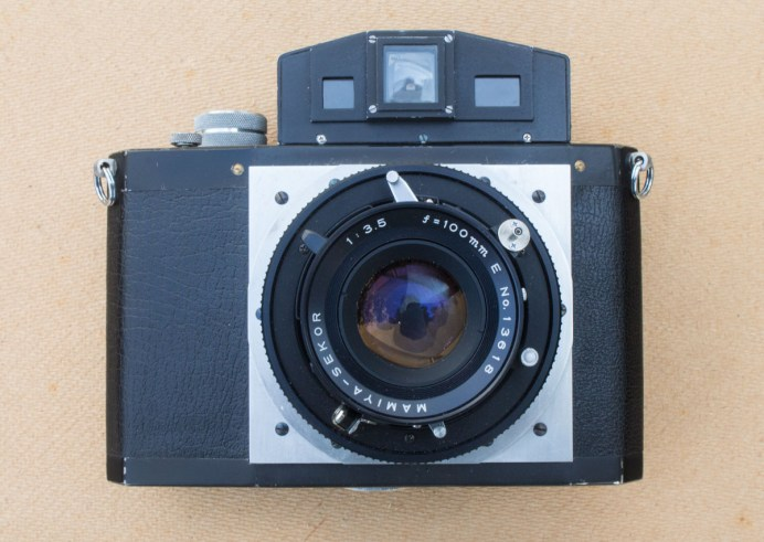 The Nameless Camera - a hand-built 6x7 medium format rangefinder camera, with 100mm f/3.5 Mamiya Press lens