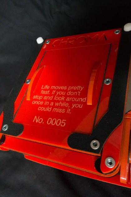 Chroma 4x5 review - Custom engraving