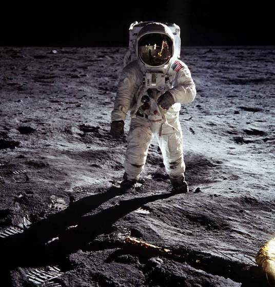 1969: Moon Landing (Image credit: NASA & Neil Armstrong) - On July 29, 1969 the first photos taken on the moon by Neil Armstrong and Buzz Aldrin were shot with Ektachrome EF film. Astronaut Buzz Aldrin walks on the surface of the moon near the leg of the lunar module Eagle during the Apollo 11 mission. Mission commander Neil Armstrong took this photograph with a 70mm lunar surface camera. In November 1969 Kodak released a special commemorative issue of 12 shots taken on the moon.
