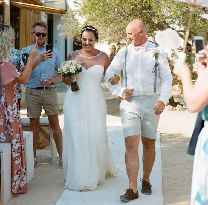 Down the aisle - Aidan and Becca's wedding - Kodak Portra 400 - Ted Smith