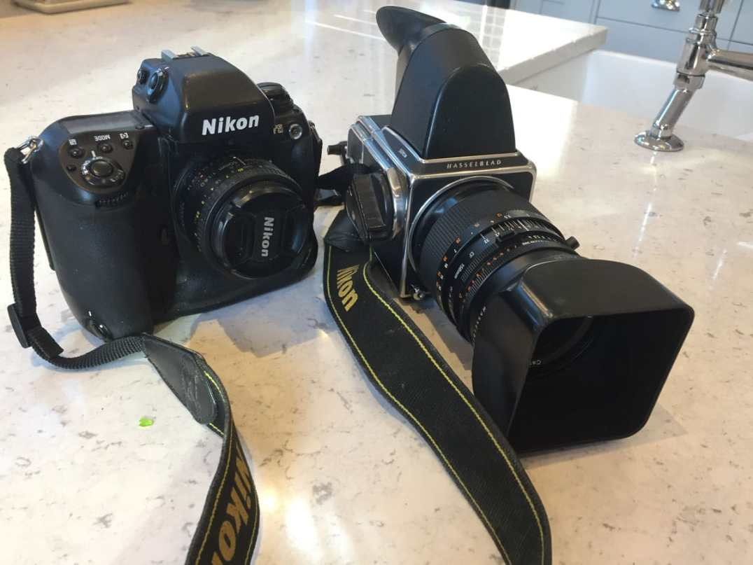 Nikon F5 and Hasselblad 501CM