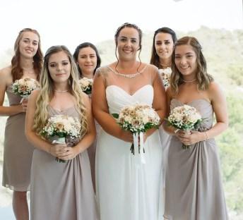 The bride and bridesmaids - Aidan and Becca's wedding - Kodak Portra 400 - Ted Smith