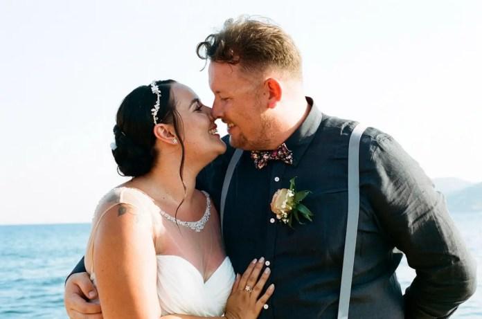 The happy couple - Aidan and Becca's wedding - Kodak Portra 400 - Ted Smith