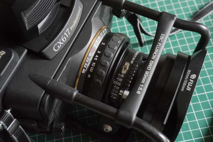 Fuji Panorama GX617 Camera Review - 90mm lens exposure and focus controls