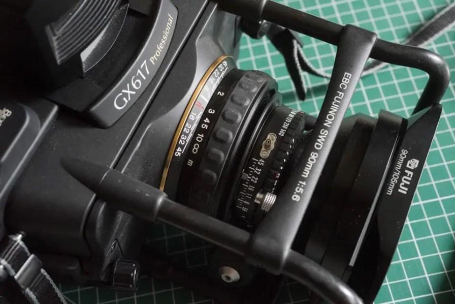 Fuji Panorama GX617 Camera Review - 90mm lens exposure and focus controls