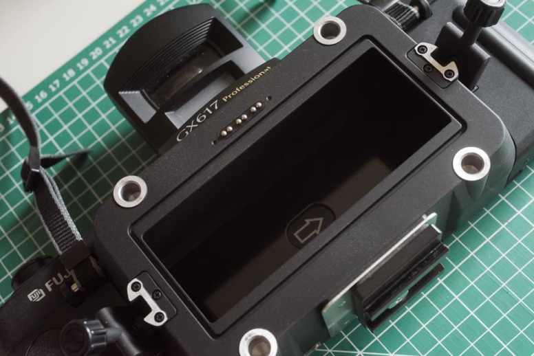 Fuji Panorama GX617 Camera Review - Body with lens detached
