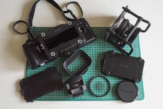 Fuji Panorama GX617 Camera Review - Exploded system