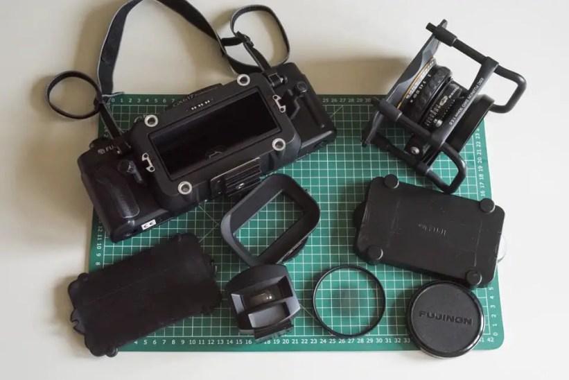 Fuji Panorama GX617 Camera Review - Exploded system