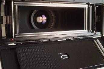 Fuji Panorama GX617 Camera Review - Film door open