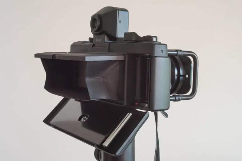 Fuji Panorama GX617 Camera Review - Rear feft, ground glass viewer open