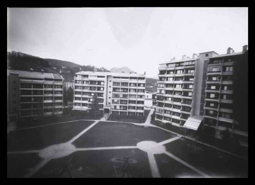 A shot from our balcony - 13x18cm pinhole