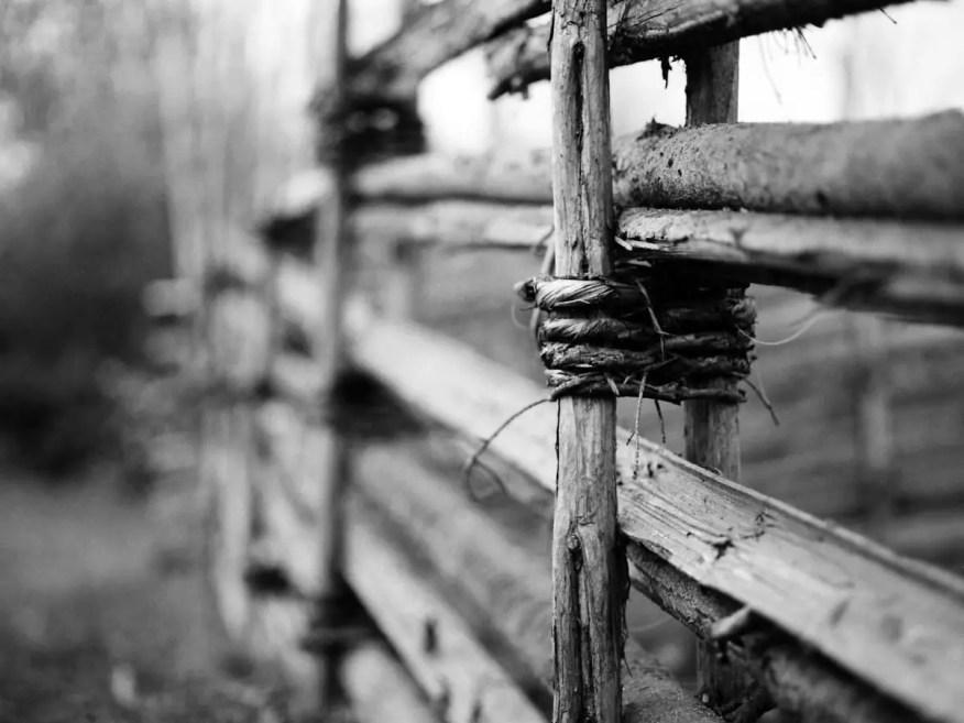 Old fence - Mamiya M645 1000s, 80mm - Kodak T-MAX 400