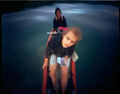 Mamiya back pinhole conversion - Canoe self portrait