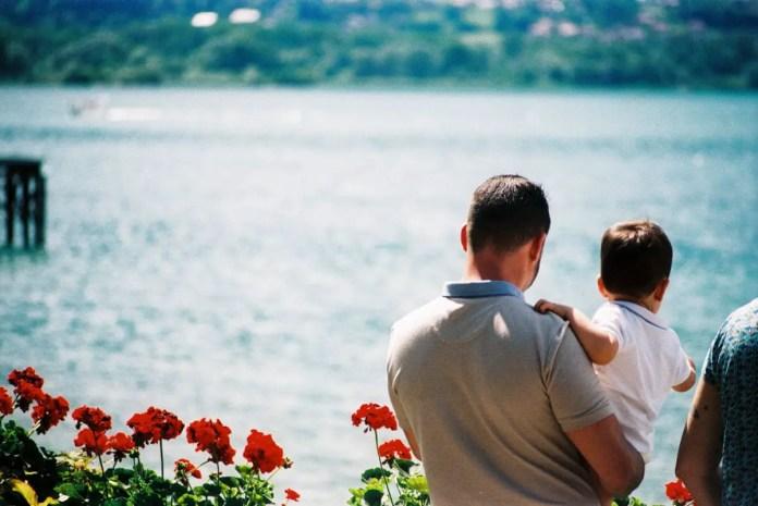 You'll be a man my son, Lac du Bourget, France - Ricoh KR10x, AgfaPhoto Vista Plus 400