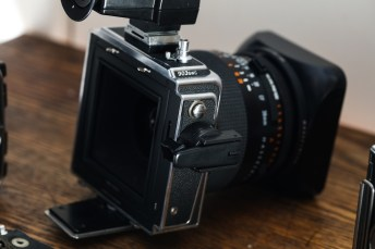 Hasselblad 903 SWC review - Film magazine unmounted