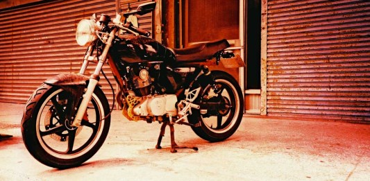 Ready to roll - Shot on Fuji Velvia 100 (RVP100) at EI 100. Color reversal film in 35mm format. Cross processed.