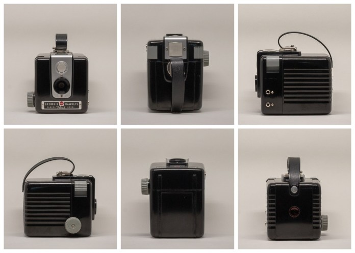 Kodak Brownie Hawkeye Flash Model - From all sides