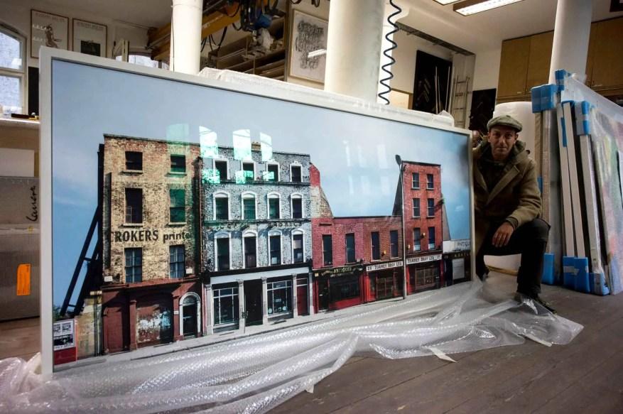 Antique Shops and Auction House, Lower Ormond Quay, Dublin, 1992 - Rolleiflex T, Kodacolor